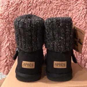 APRÉS Shoes - Girls Short Black Boots w/ Buckle